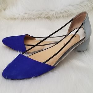 Gianni Bini Leather and Vinyl Flats
